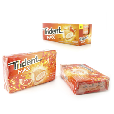 CHICLES TRIDENT MAX FROST MANDARINA
