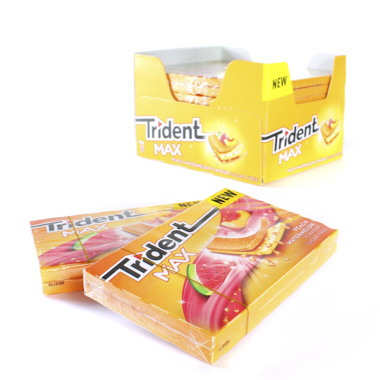 CHICLES TRIDENT MAX NEW SANDI/MELOCOTON