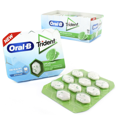 CHICLES TRIDENT ORAL B HIERBABUENA