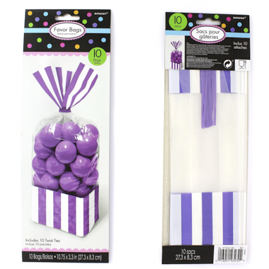 BOLSA RECTANGULAR CANDY BAR PURPURA