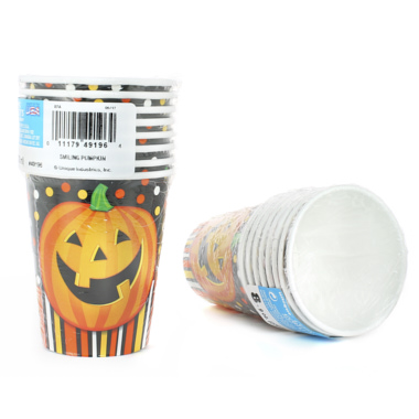 VASOS CARTÓN CALABAZA CANDY BAR