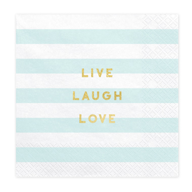 SERVILLETAS LIVE LAUGH LOVE AZUL