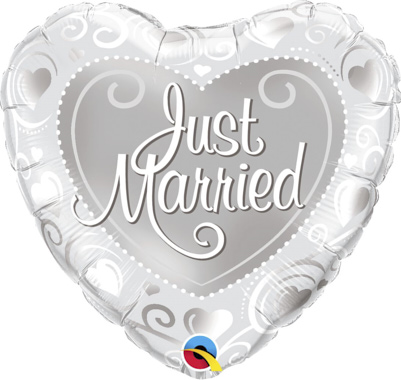 GLOBO CORAZON JUST MARRIED PLATA