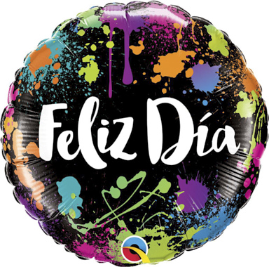 GLOBO CORAZON FELIZ DIA COLOR SPLASH