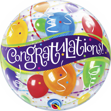 GLOBO BUBBLE SENCILLO CONGRATULATIONS