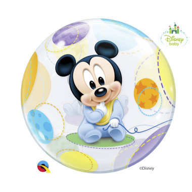 GLOBO BUBBLE SENCILLO MICKEY BEBE