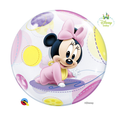 GLOBO BUBBLE SENCILLO MINNIE BEBE