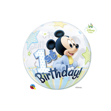 GLOBO BUBBLE SENCILLO MICKEY 1st CUMPLE