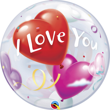 GLOBO BUBBLE SENCILLO I LOVE YOU