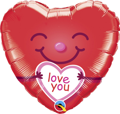 GLOBO LOVE YOU CORAZON SONRIENTE