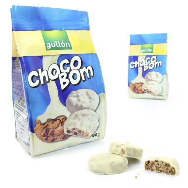 GALLETA GULLON CHOCOBOM BLANCO 100 GRS