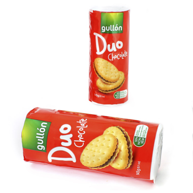 GALLETAS CHOCOLATE GULLON DUO CHOCO PACK