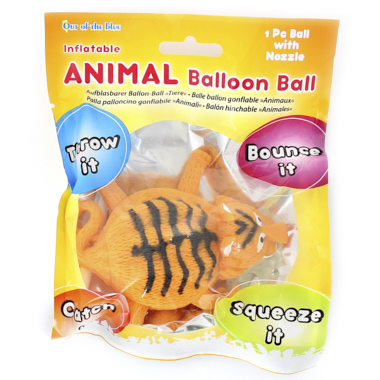 PELOTA HINCHABLE ANIMALES HASTA 25 CM
