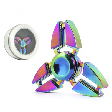 CRAZY GIRO SPINNER RAINBOW METALIZADO