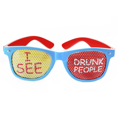 GAFAS FRASE I SEE DRUNK PEOPLE