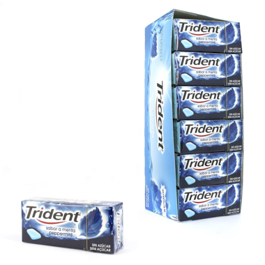 CHICLES TRIDENT GRAGEA FRESH MENTA