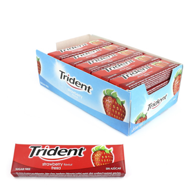CHICLES TRIDENT LAMINA FRUIT (FRESA)