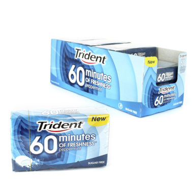 CHICLES TRIDENT 60 MINUTOS MENTA