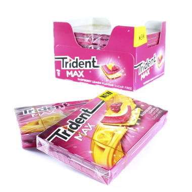 CHICLES TRIDENT MAX NEW FRAMBUESA/LIMON